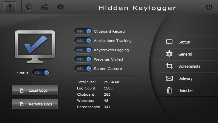 Hidden Keylogger full screenshot